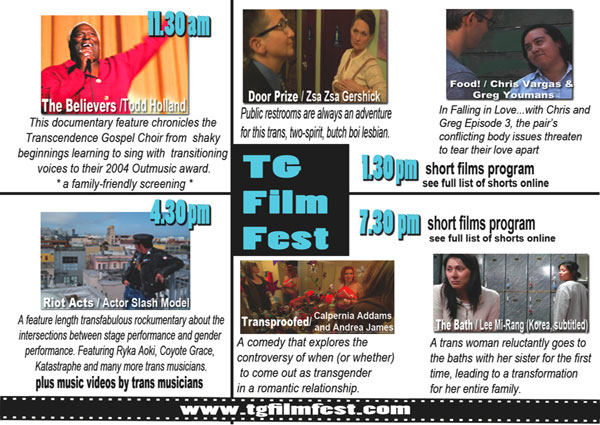 t transgiving film festival flyer Join Trans/Giving At The Annual TG Film Festival!