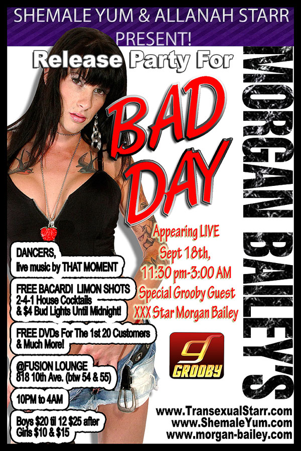 morgan bailey bad day party 2 Join Morgan Bailey This Saturday For A Party!