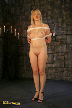 t carmen kaspar bobstgirls 02 Post Op Transsexual Carmen Kaspar Gets Tied On Bobs Tgirls!
