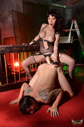 t danielle foxxx caged 03 Caged Heat With Post Op Transsexual Danielle Foxxx!