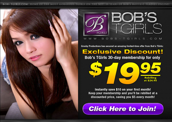bobstgirls promo 01 See Sexy Shemale Pornstars At Play At Bobs Tgirls!