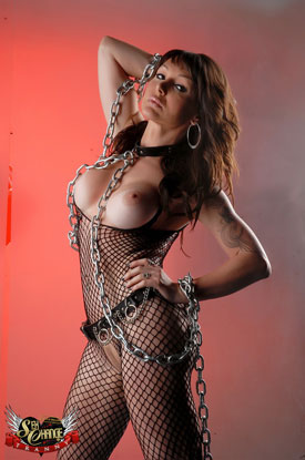 t danielle foxxx sex chains 03 Post Op Transsexual Danielle Foxxx Wrapped Up In Chains!